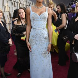 Laura Harrier attends the Academy Awards  February 24, 2019 in Hollywood, California. | Kevork Djansezian/Getty Images