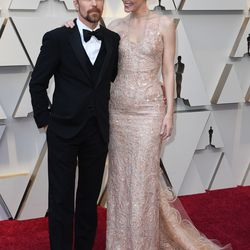 Sam Rockwell and actress Leslie Bibb arrive for the 91st Annual Academy Awards. | MARK RALSTON/AFP/Getty Images