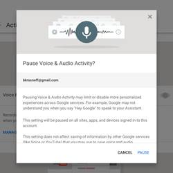 Google won't pause your audio recording without warning you of the dire consequences.