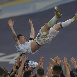 Messi takes to the air
