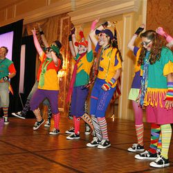 """A youth group performs at The Grand America Hotel in Salt Lake City Wednesday as part of the National Association of Alcoholism and Drug Abuse Counselors' """"Sowing the Seeds of Recovery"""" conference. The children are part of a new local youth performance group known as Kids Against Drugs and Alcohol."""