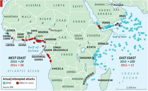 Piracy map