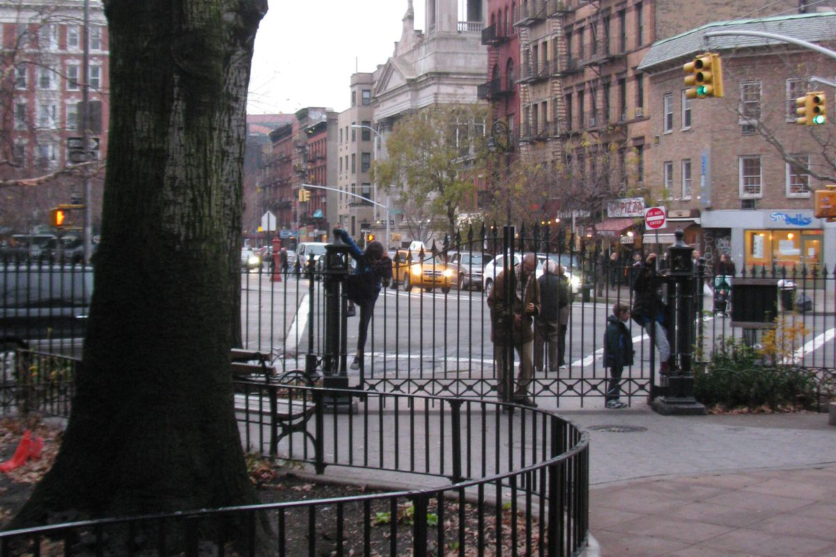 Minetta Playground in New York City, the scene of the crime