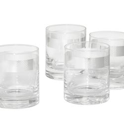 Cocktail Glasses with Silver, $25 (4-count)