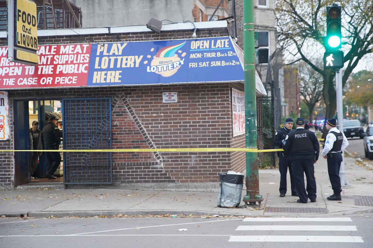 Officers investigate after a wounded girl ran to a convenience store at the corner of 16th Street and Homan.