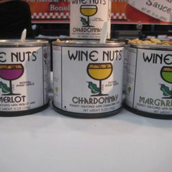 Wine and booze-flavored peanuts were a recurring theme.