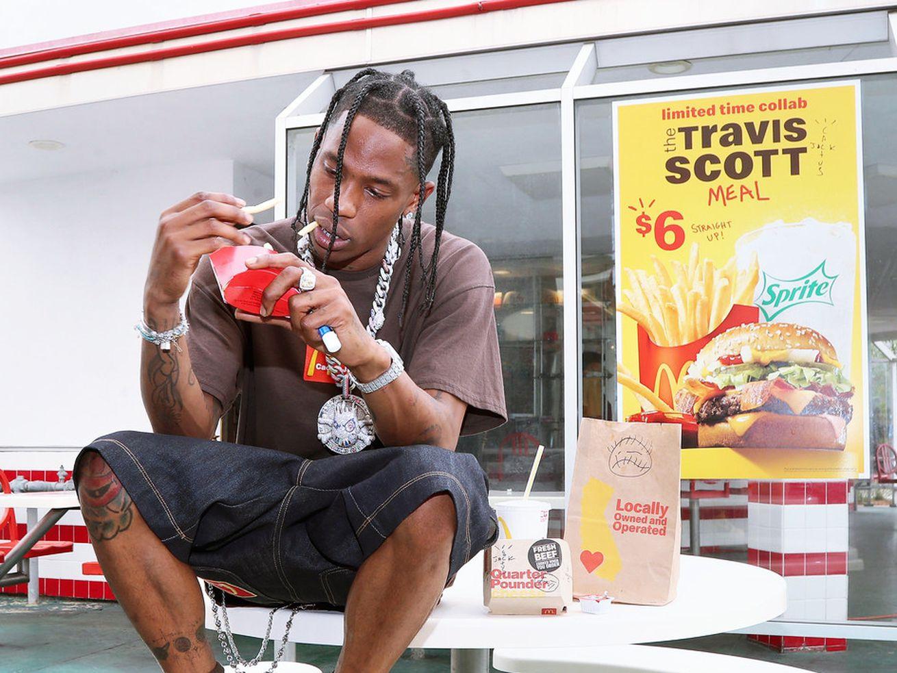 Travis Scott Fans Are Celebrating His McDonald