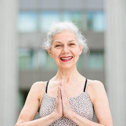 """<a href=""""http://ny.racked.com/archives/2012/08/02/hottest_trainer_contestant_7_georgia_balligian.php""""><b>Georgia Balligian</b></a> from Bikram Yoga NYC. Photo by <a href=""""http://www.bonniebethburke.com/"""">Bonnie Burke</a>"""