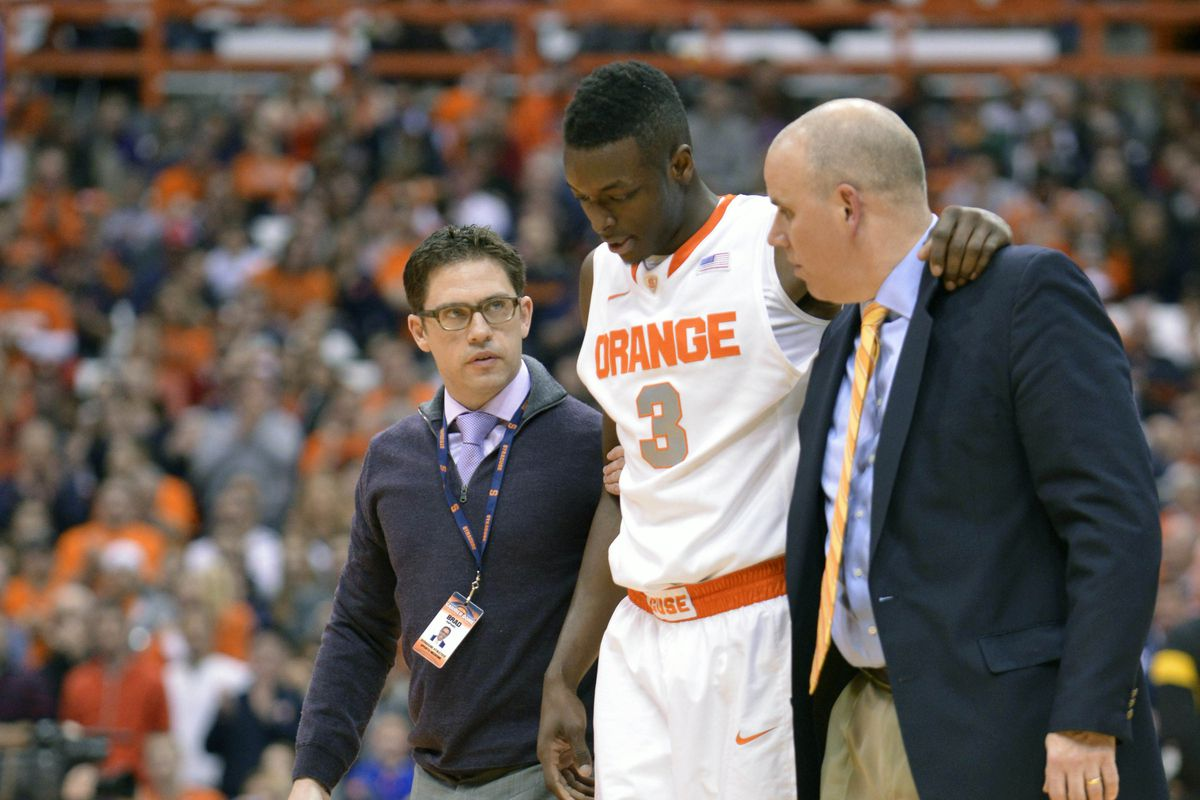Syracuse Basketball Jerami Grant Injury Not Serious Will Play