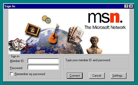windows 95 MSN