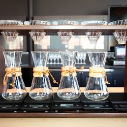 Pour over coffee set-up