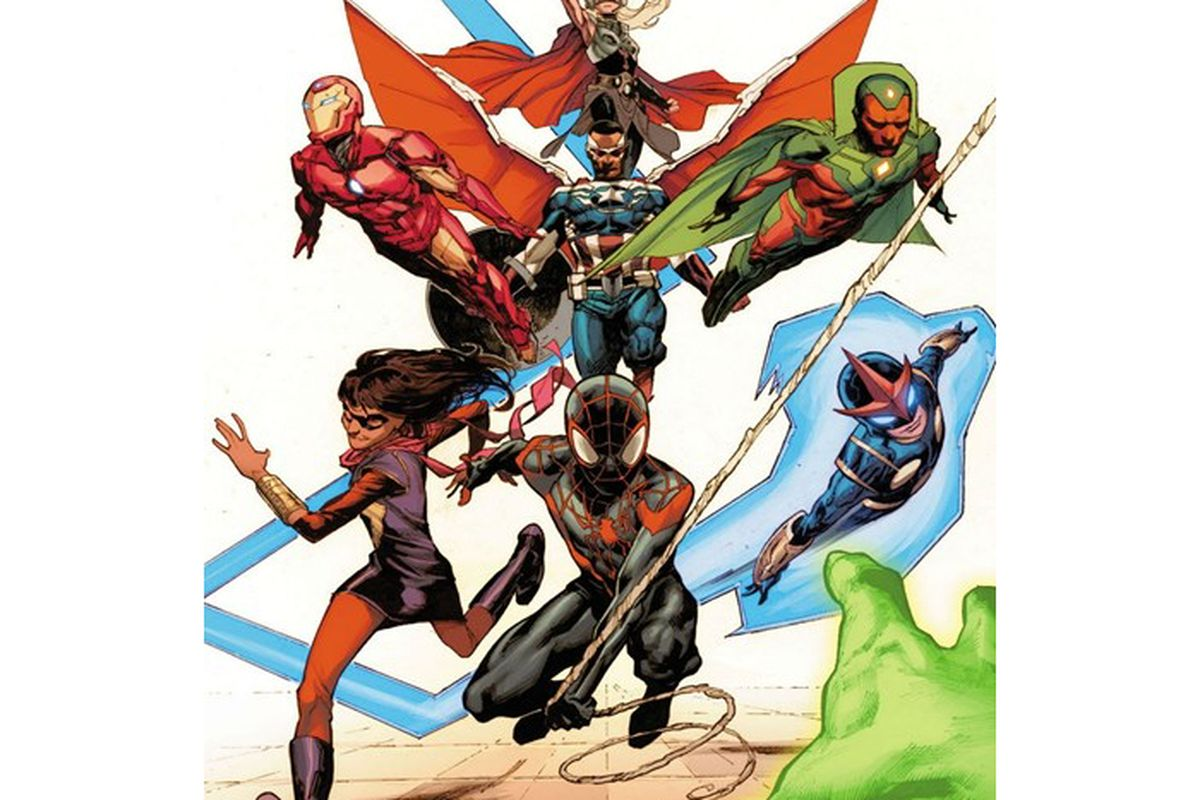 This Is Marvels New Avengers Team The Verge Iron Man Circuit Superhros Marvel Comics Logostore Five Myserious Outlines In Lineup Have Been Revealed After A Scan Leaked On 4chan Morning Wired Uk Has Posted An Official