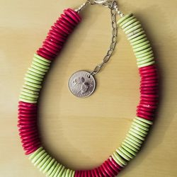 """Chunky colorblocked necklace, $30 from <a href=""""http://www.etsy.com/shop/INDICAN?"""">Indican</a>"""