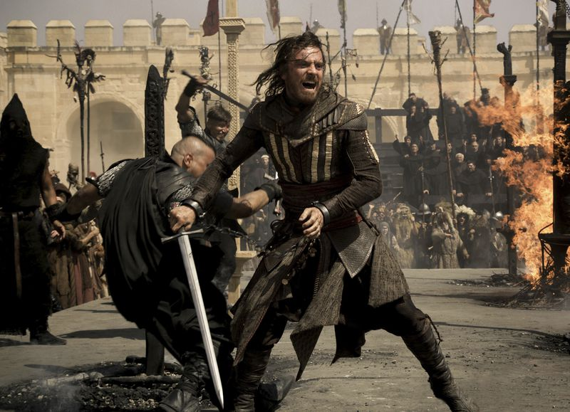 """Michael Fassbender stars as Callum Lynch in a scene from """"Assassin's Creed.,"""" a film based on the video game series."""