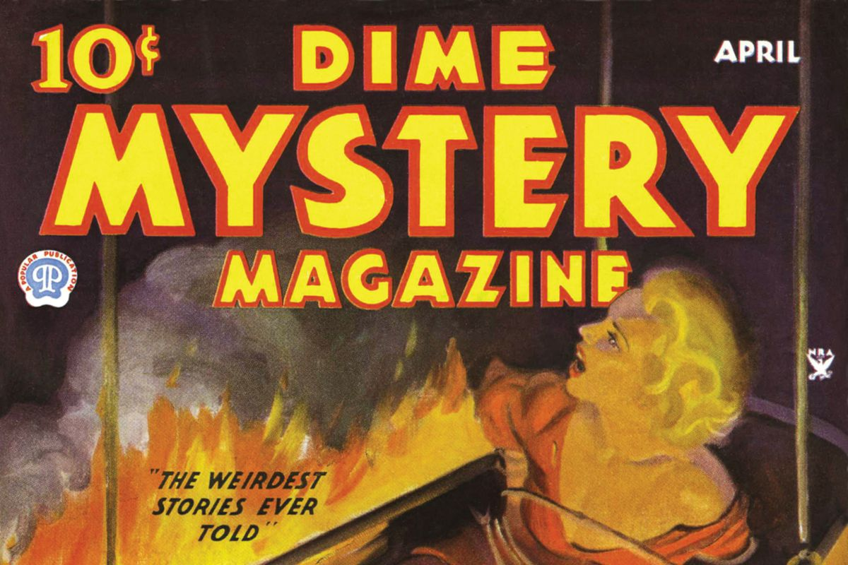 Dime Mystery Magazine Cover, April 1935