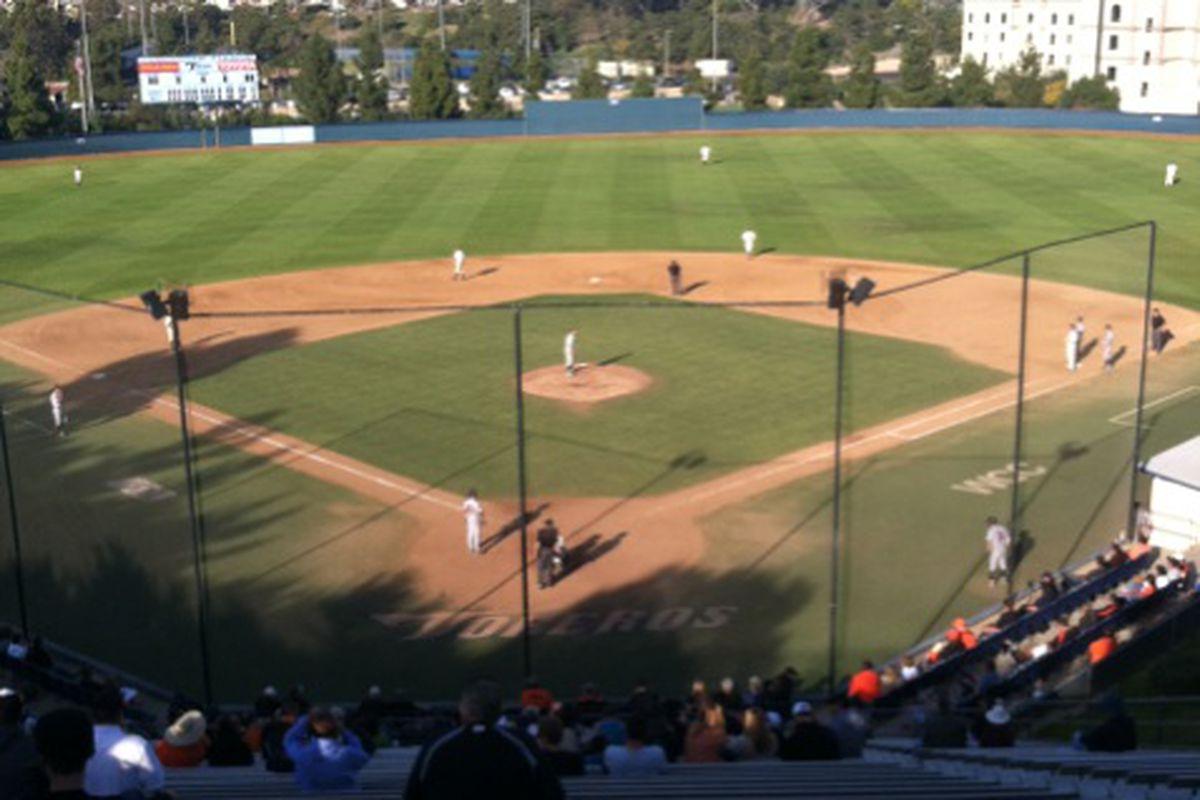 Oregon St. faces San Diego in Cunningham Stadium today. <em>(Twitpic photo)</em>