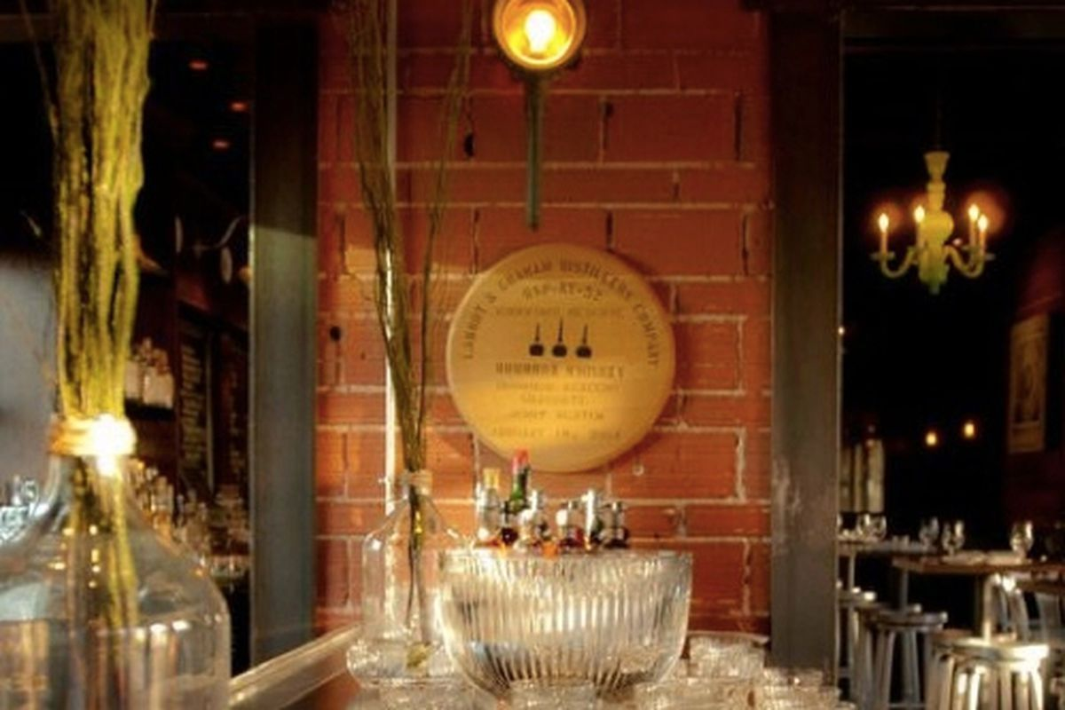 Punch bowl on the bar at H. Harper Station.
