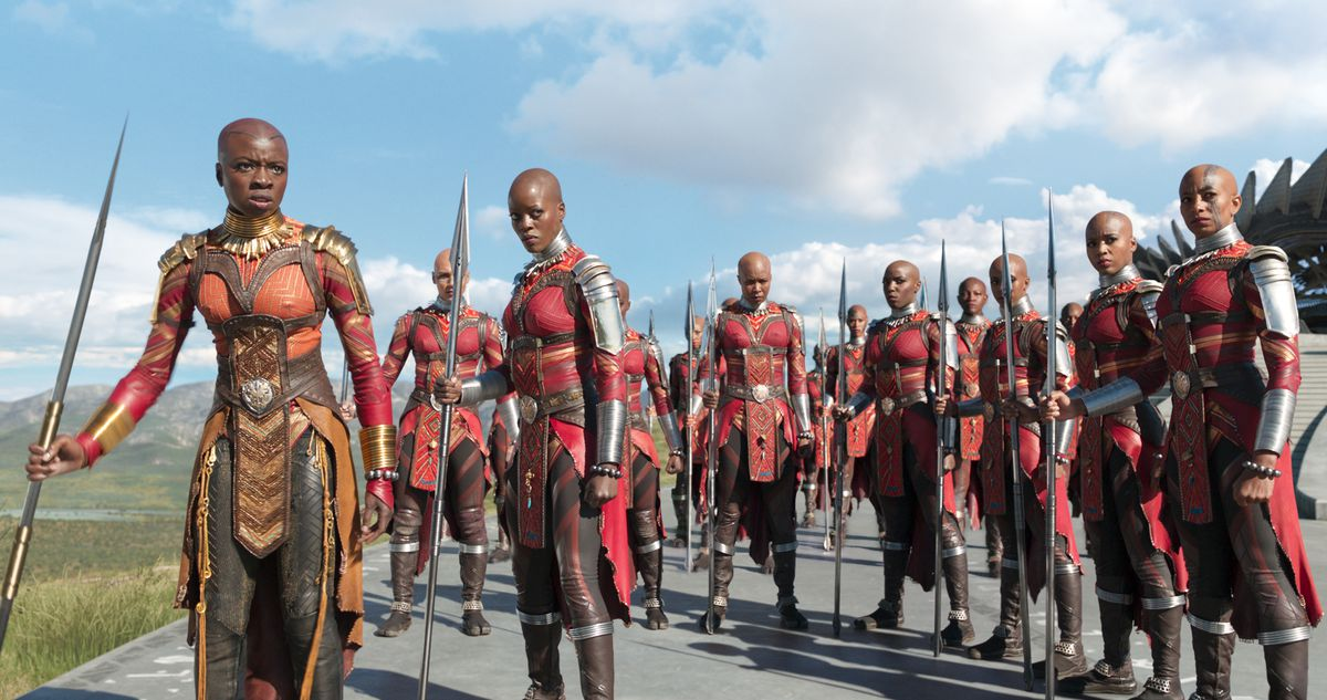 The Dora Milaje in Black Panther