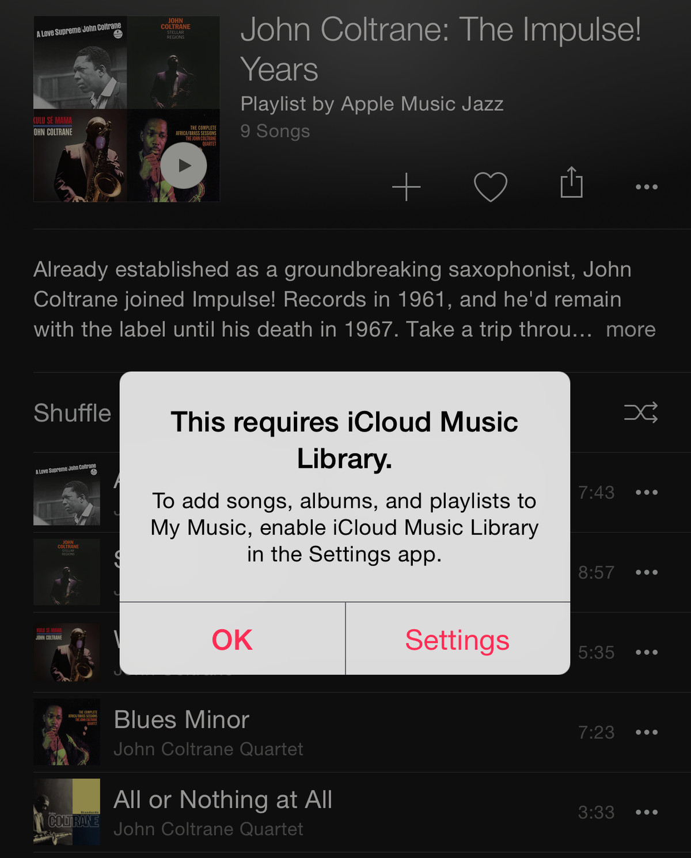 iCloud Music Library