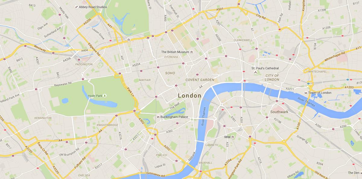Central London Google Map.Central London Map Google Twitterleesclub