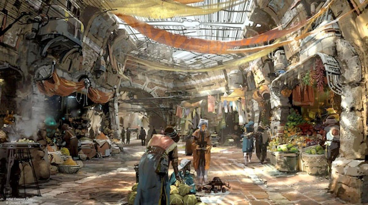 star wars land concept art market