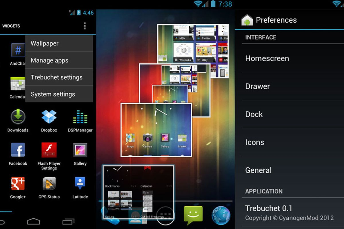 Cyanogenmod 9's launcher, Trebuchet, available in early alpha for