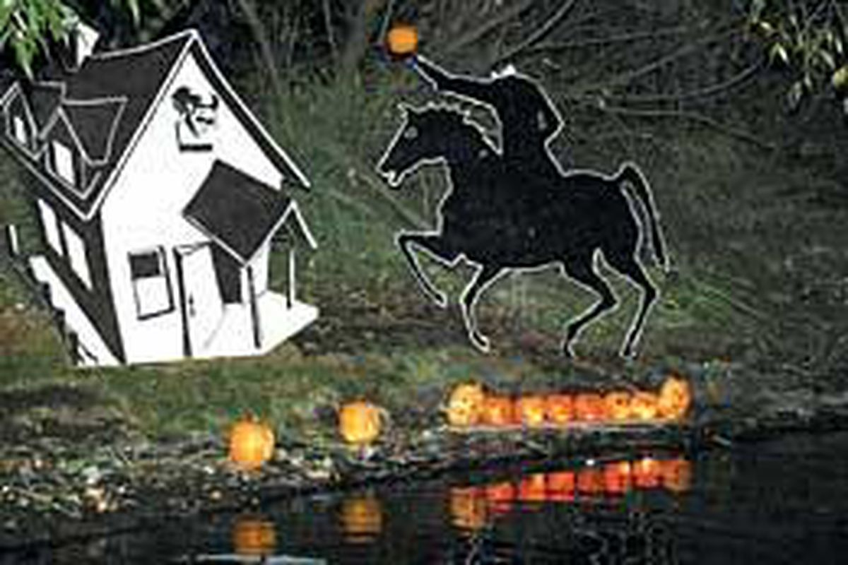 The headless horseman and a haunted house along the shore of the Provo River are part of the CLAS Ropes Course Halloween Cruise where people are taken down the river on a boat. The trip takes 25 minutes.