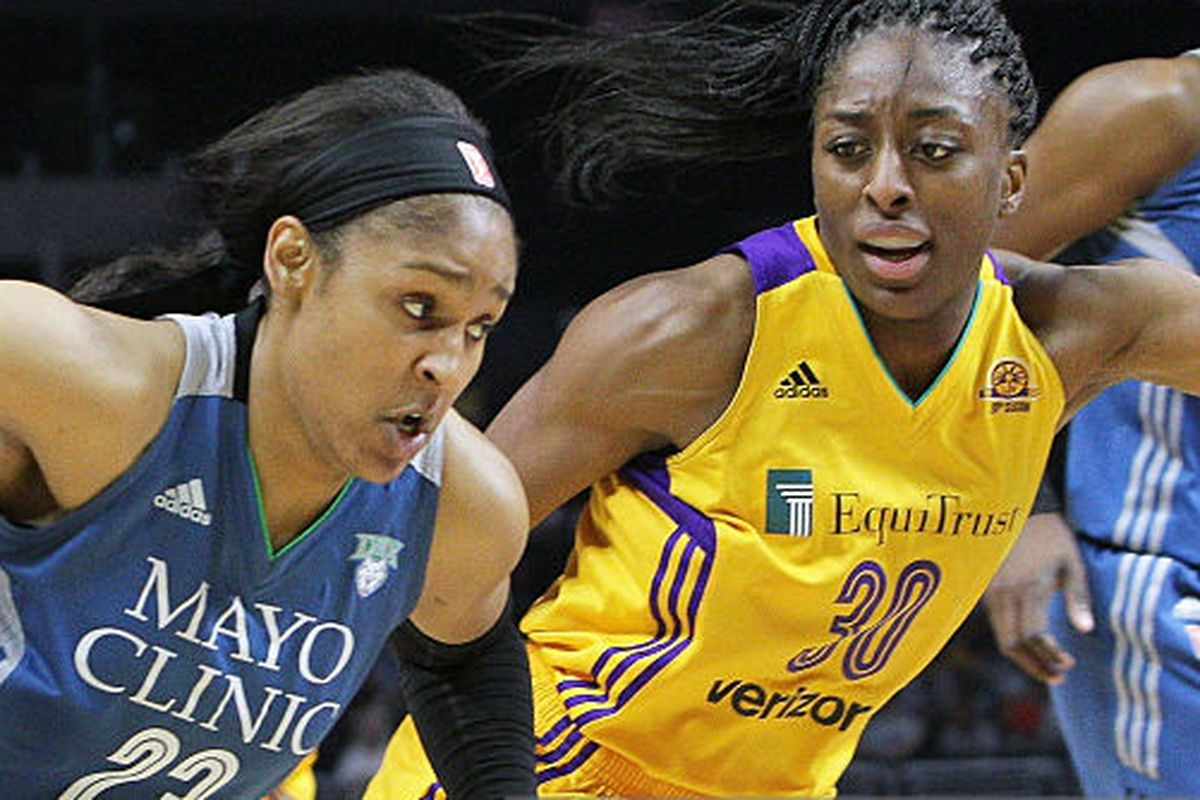 Maya Moore, Nneka Ogwumike, Minnesota Lynx, LA Sparks
