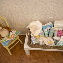 Consumers can take a list of materials home with them so they can get started on their own eco-friendly nursery.