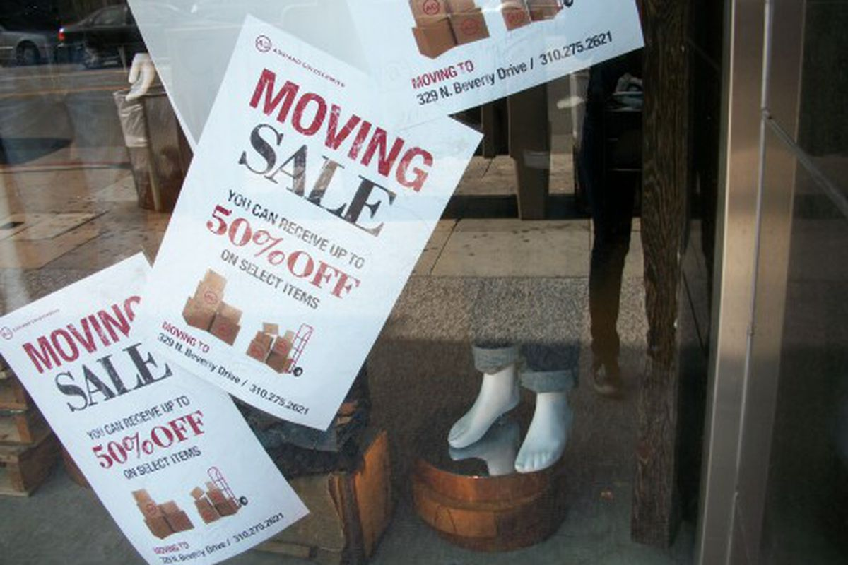 The AG Jeans flagship is leaving the starlet-infested stretch on Robertson.