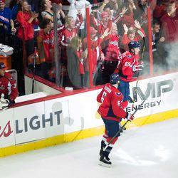 Burakovsky Celebrates First Playoff Goal