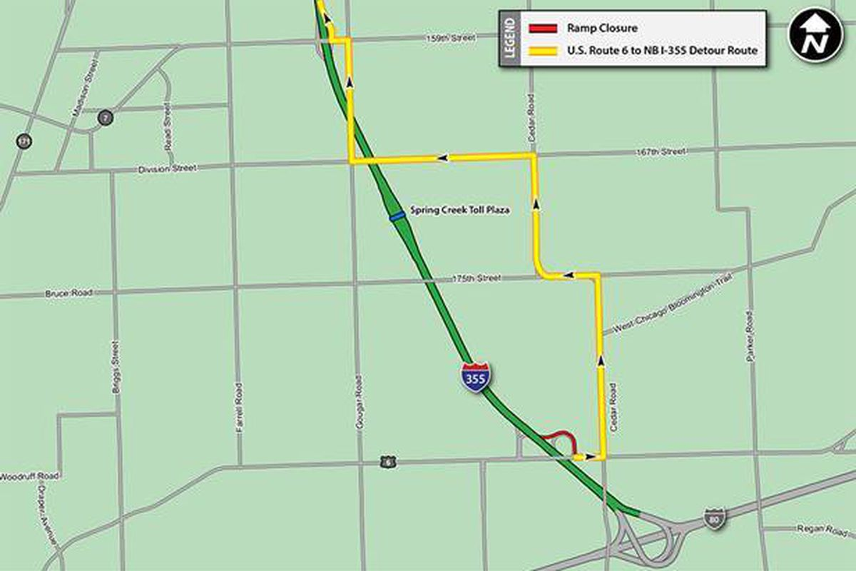 Ramp closure in place through Monday at I-355 interchange in New ...
