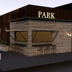 Rendering of the exterior of Park On Fremont.