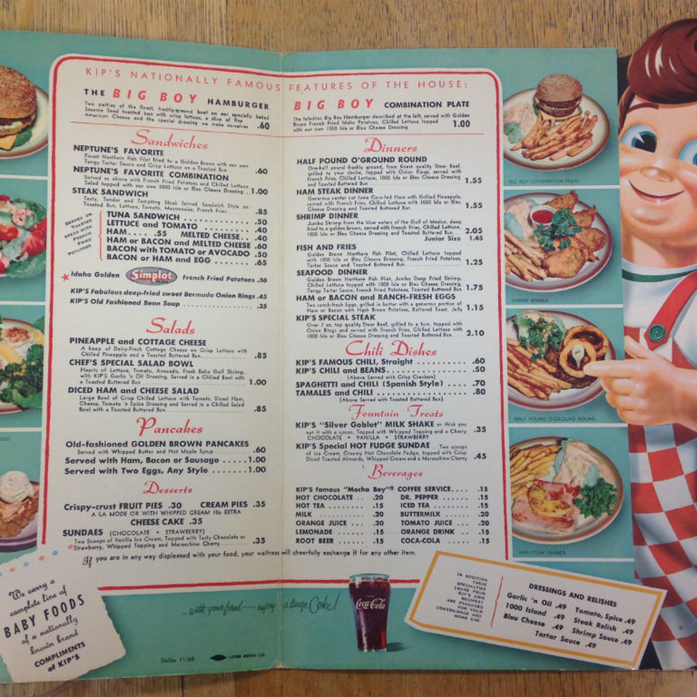 scope out vintage menus from bygone dallas restaurants - eater dallas