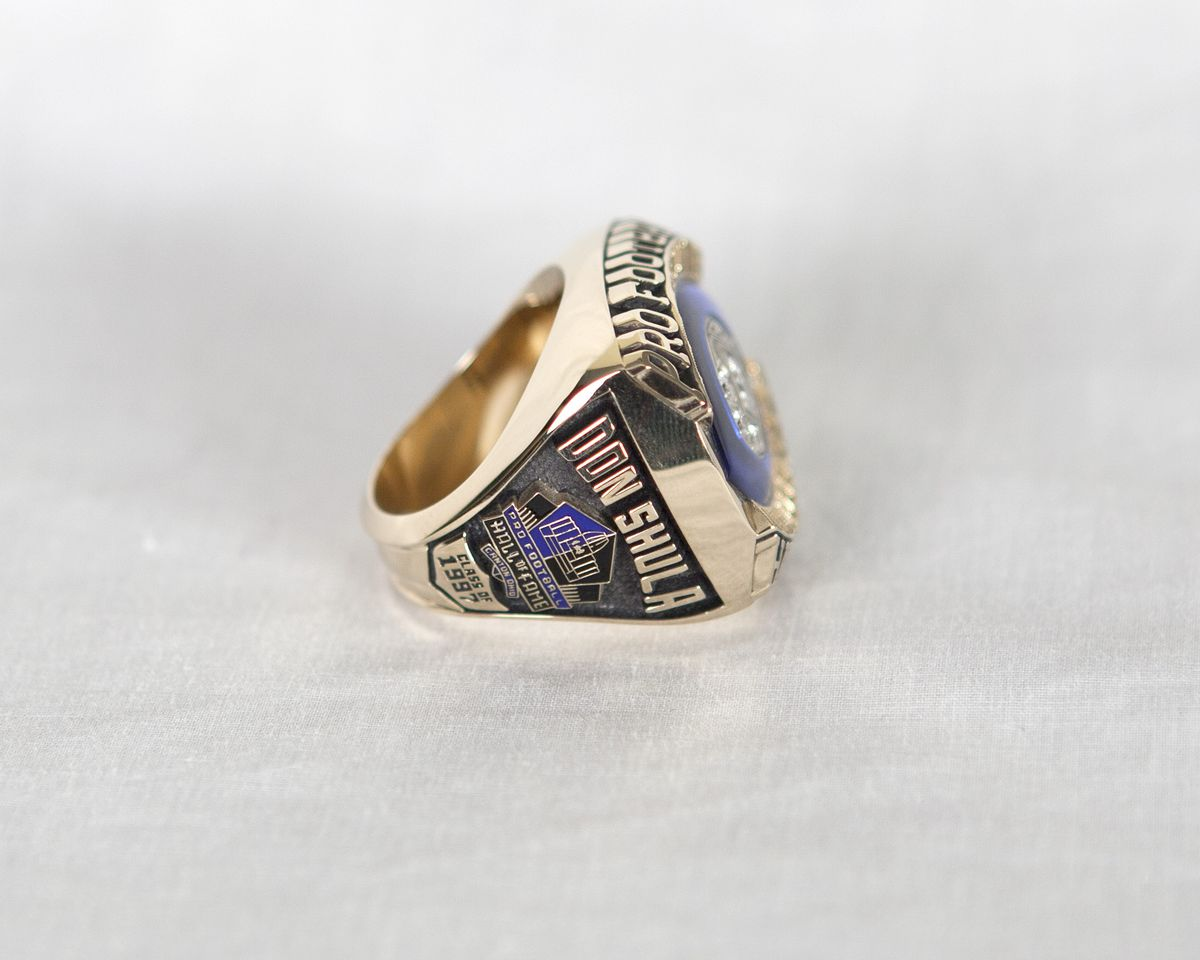 Don Shula Hall of Fame Ring (Left View)