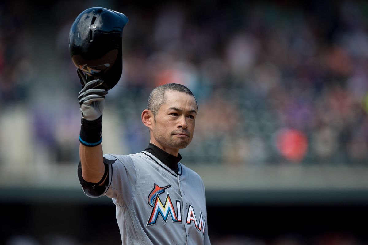 Miami Marlins outfielder Ichiro Suzuki records 3,000th hit against