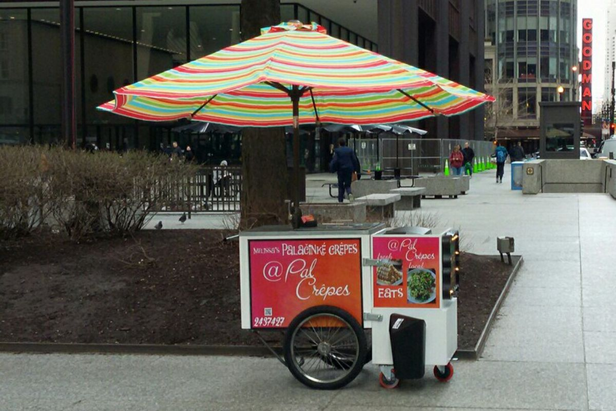 Chicago's first licensed food cart.