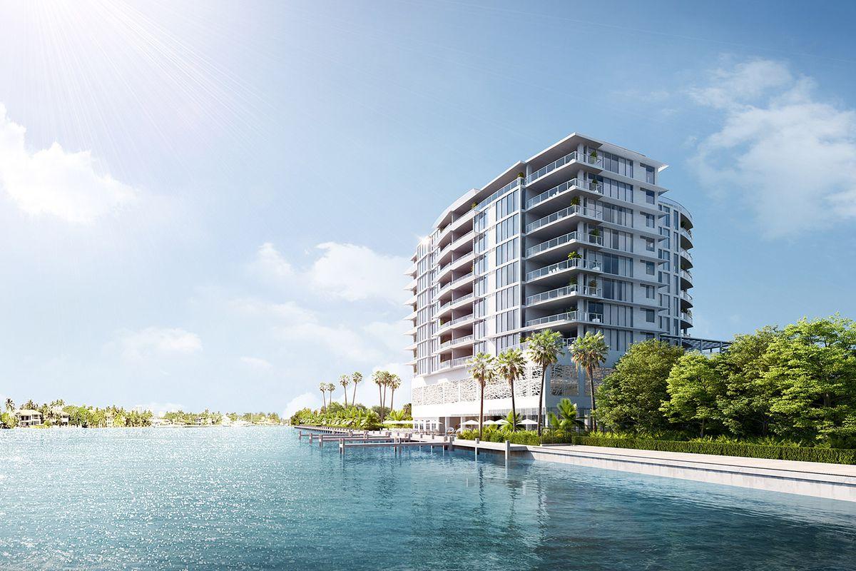 A rendering of Adagio Fort Lauderdale Beach