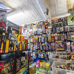 Thousands of toys line the shelves and walls at Quake Collectible, in Lincoln Square. | Tyler LaRiviere/Sun-Times