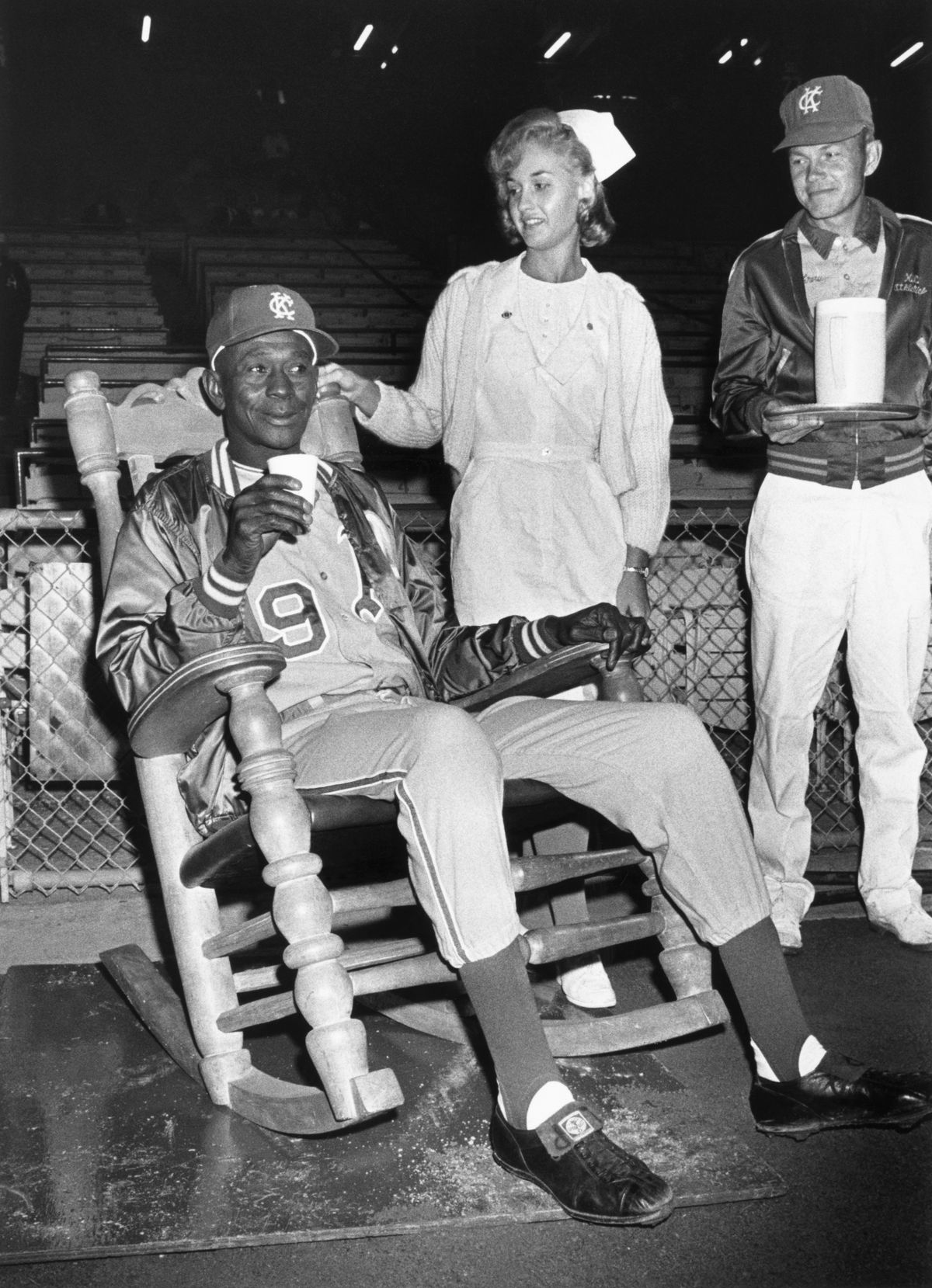 Satchel Paige in a Rocking Chair at a Game