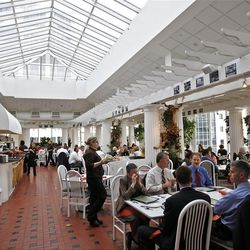 The Garden Restuarant  at the Joseph Smith Memorial Building for a special section on Hotel Utah's centennial Wednesday, May 18, 2011, above Salt Lake City, Utah.