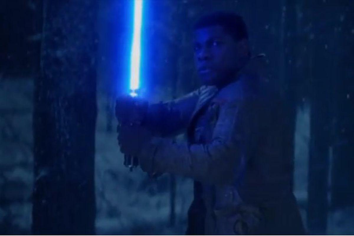 John Boyega as Finn in Star Wars: The Force Awakens.