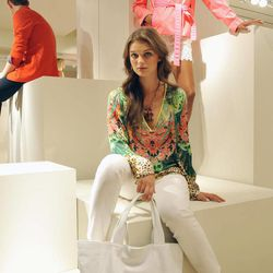 The Elie Tahari Spring 2013 collection is modeled during Fashion Week in New York, Monday Sept 10, 2012.