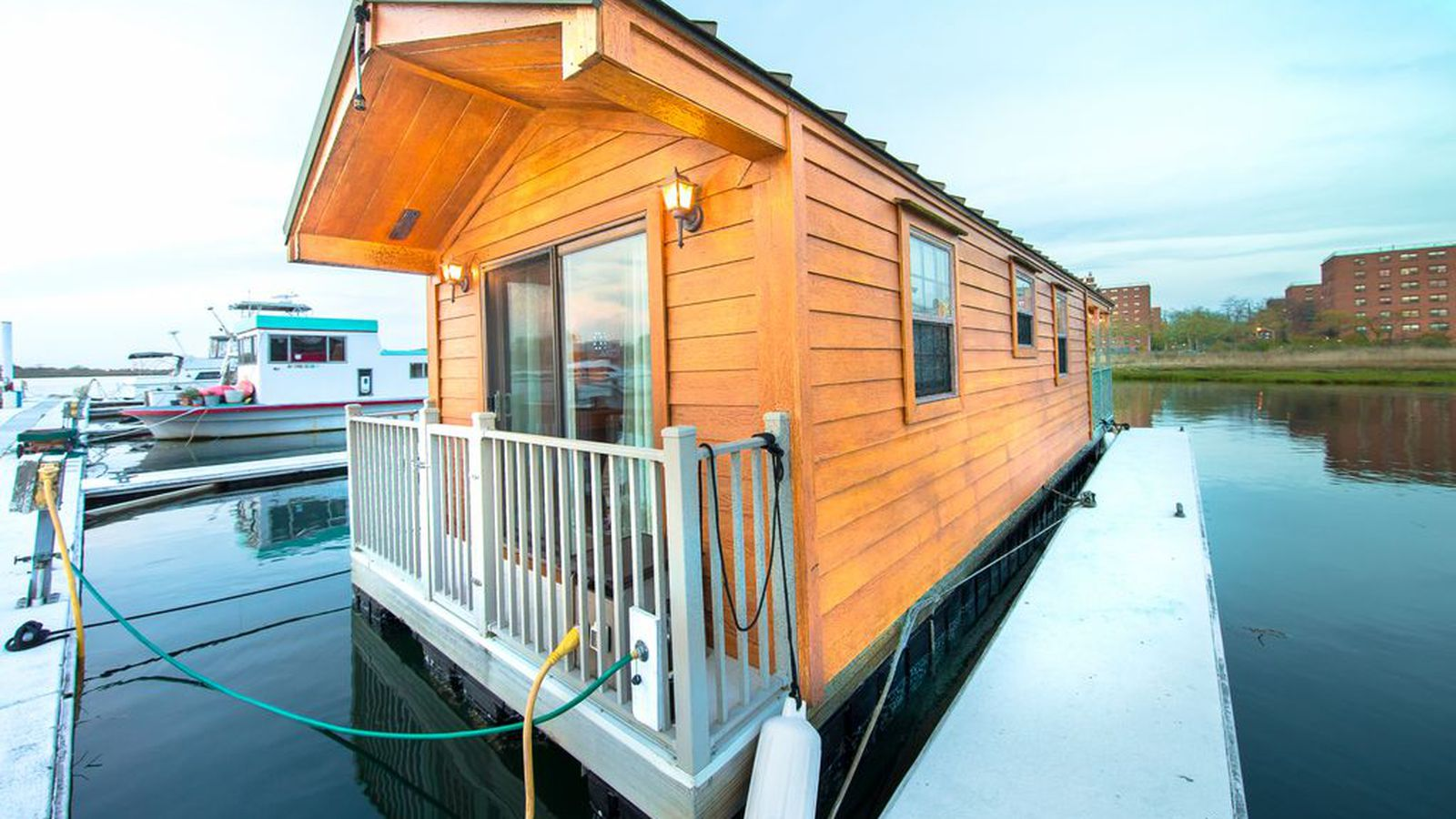 Live On An Adorable Houseboat Docked In Queens For Just