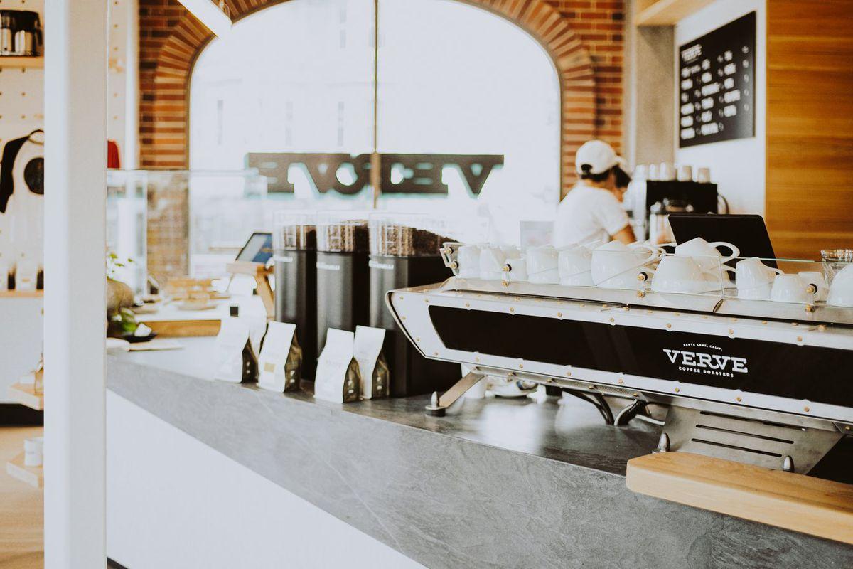 Espresso machine at Verve on Market