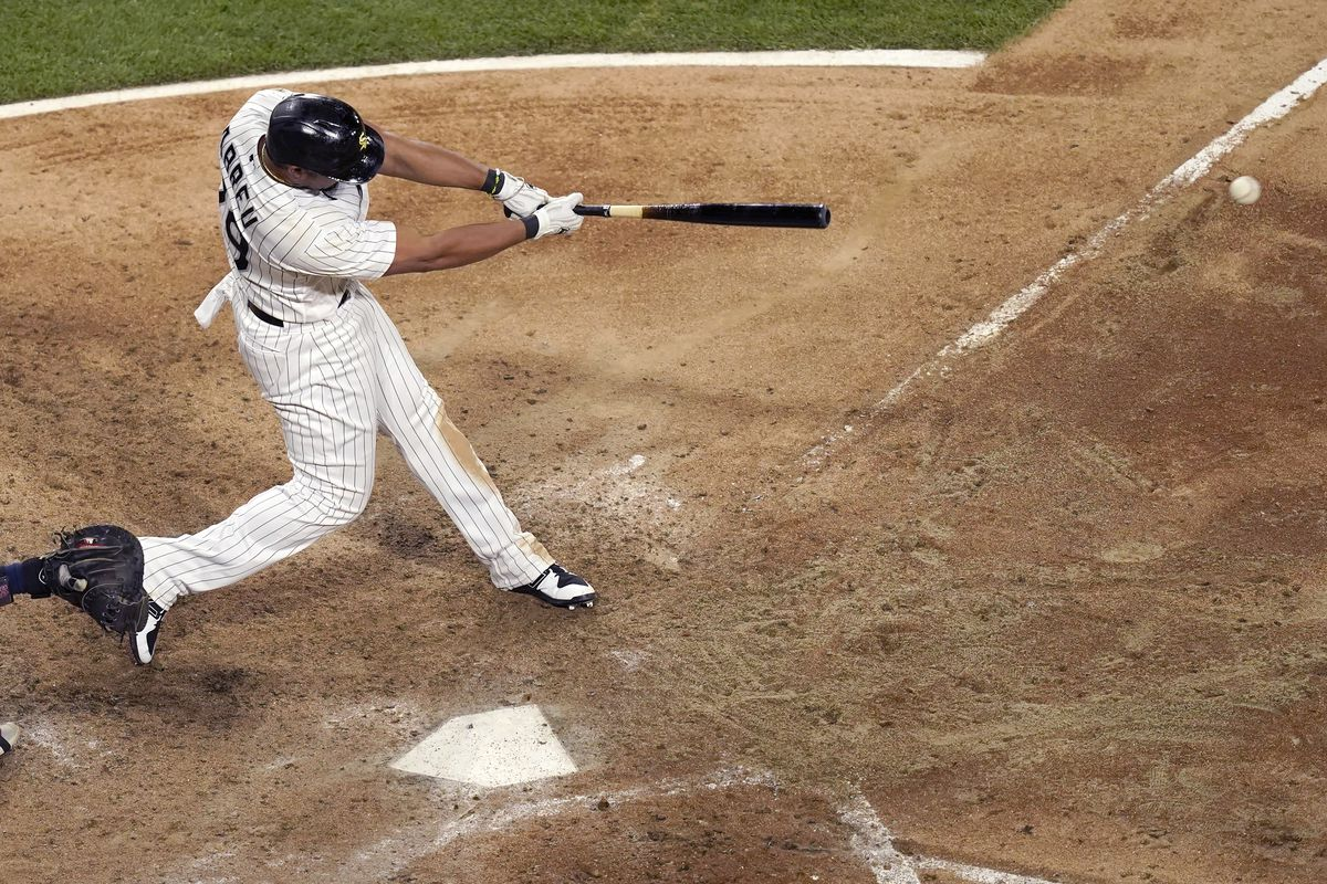 """""""He's been working hard, and I've been on him hard,"""" White Sox hitting coach Frank Menechino said of Jose Abreu."""
