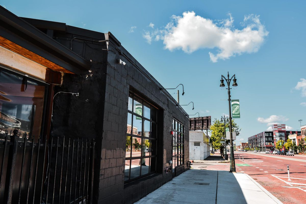 The exterior of the building in Corktown
