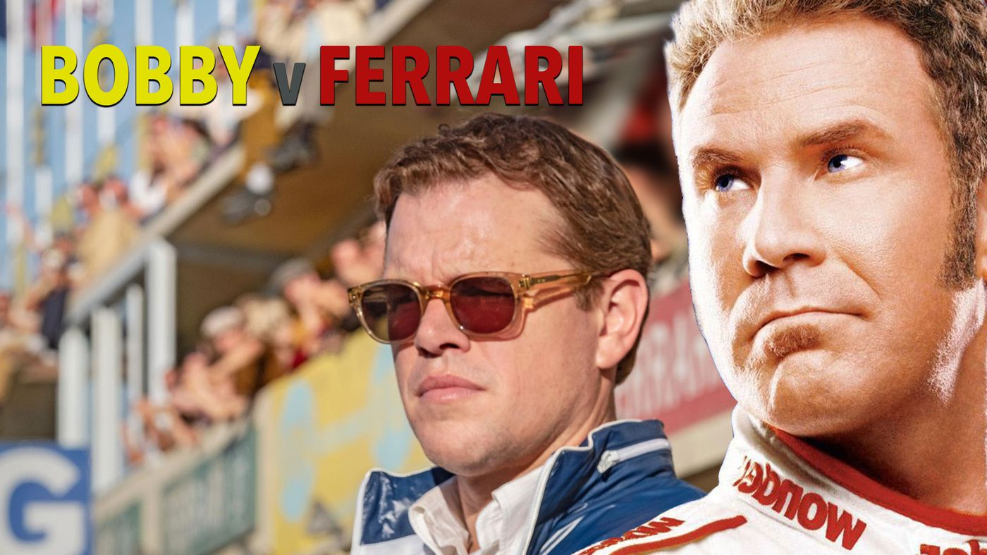 Ricky Bobby Takes On Ferrari Because Shake And Bake Will Never Die