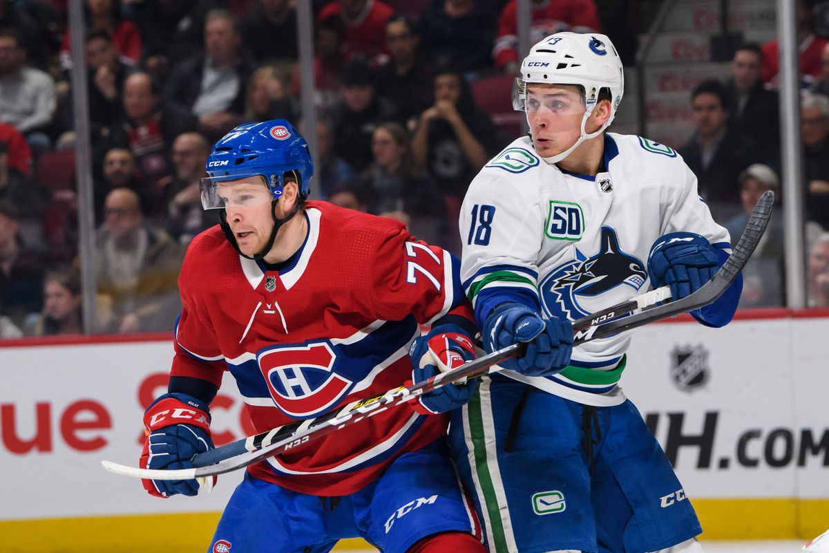 NHL: FEB 25 Canucks at Canadiens