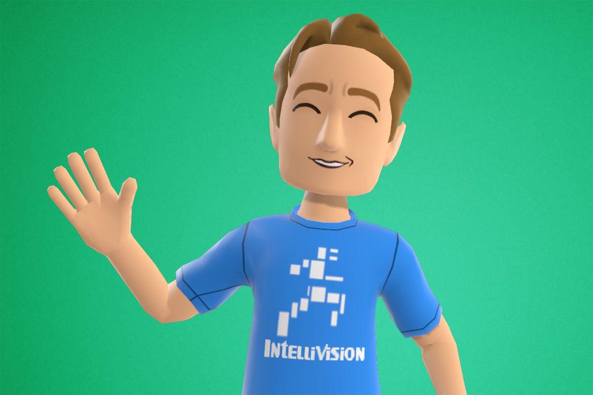 an Xbox avatar wearing an Intellivision T-shirt